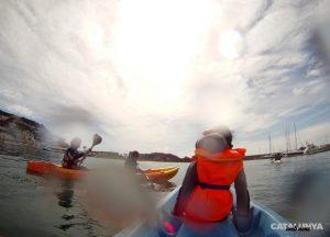 Sortint del port amb els kayaks