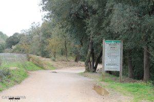 Senyal d'entrada al Parc Natural de Collserola