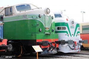 Màquines de tren al Museu del Ferrocarril