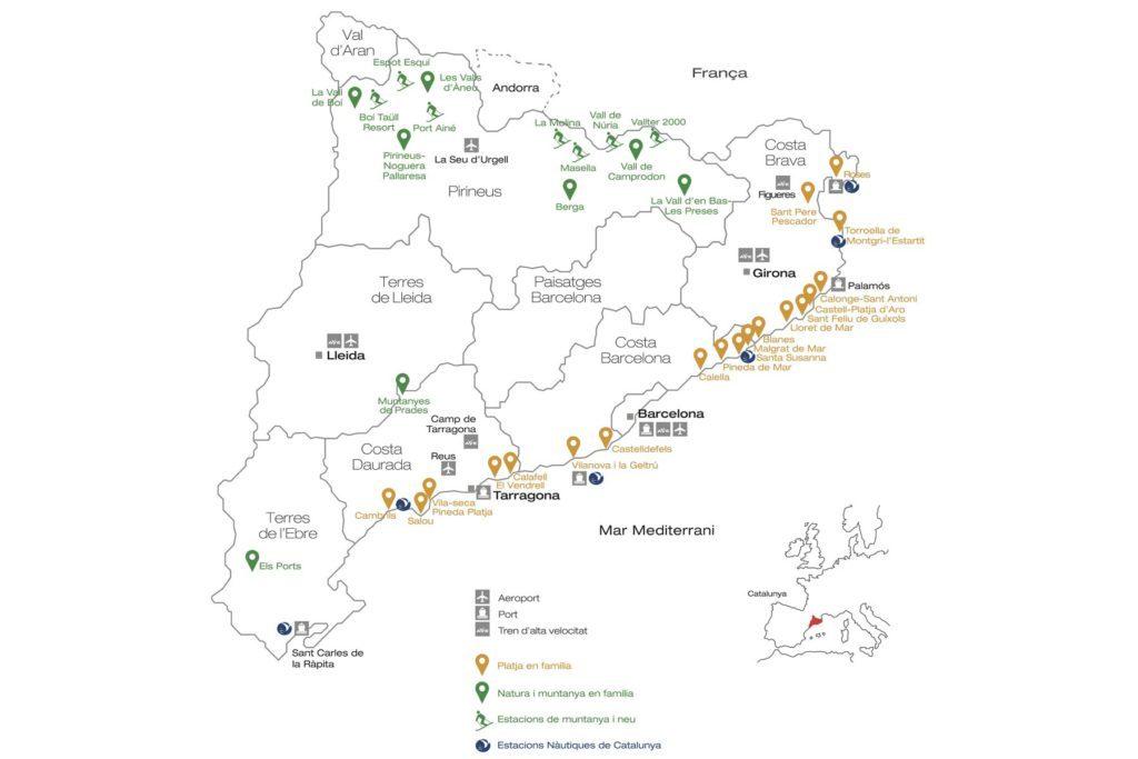 Destinacions Turisme Familiar. Catalunya Hola Família