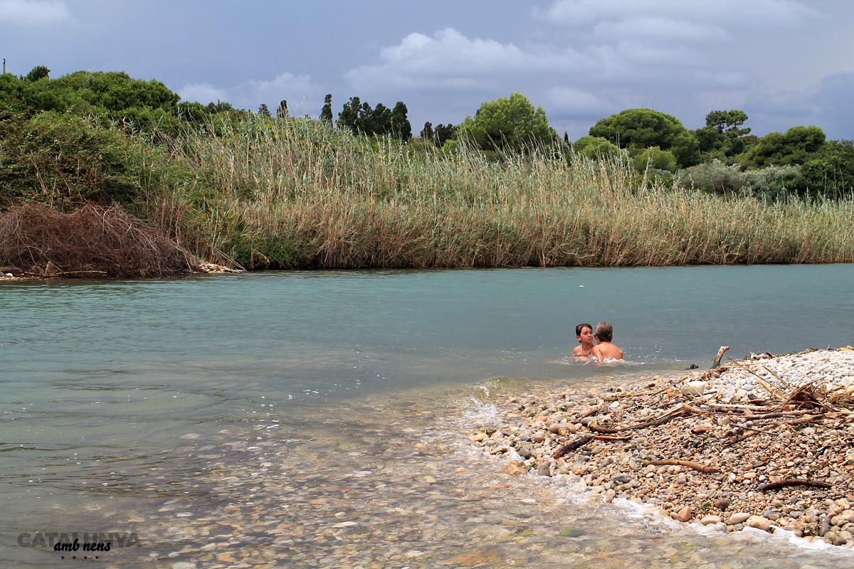 Bany d'aigua dolça i salada al final del riu