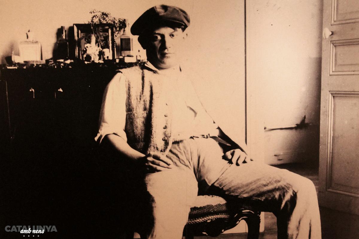 Pablo Picasso a l'edat que va estar a la Terra Alta