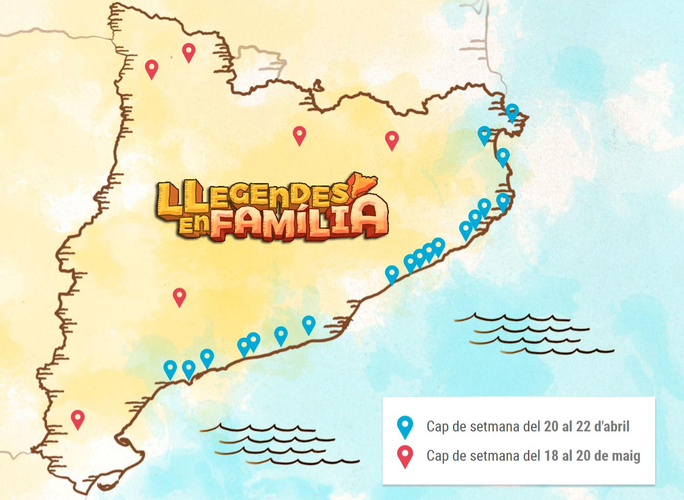 Mapa de Llegendes en família
